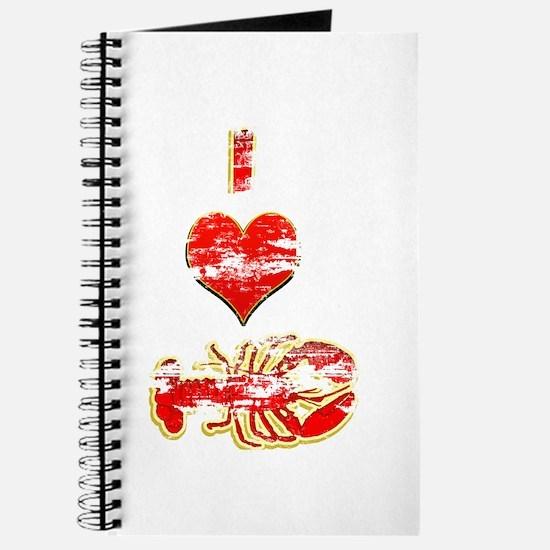 Vintage I heart Lobster Journal