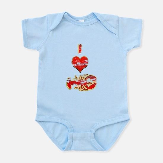 Vintage I heart Lobster Infant Bodysuit