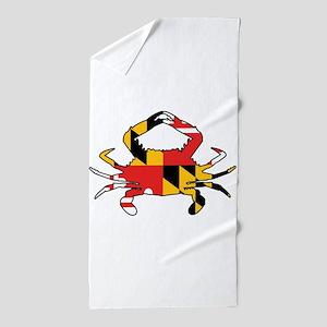 Maryland Crab Beach Towel