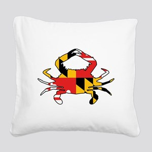 Maryland Crab Square Canvas Pillow