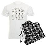 White Guy Dance Moves Men's Light Pajamas