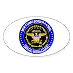 Immigration Minuteman Border Oval Sticker
