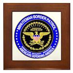 Immigration Minuteman Border Framed Tile