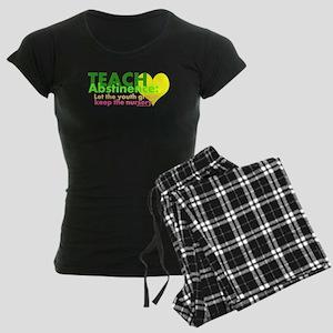 Teach Abstinance Women's Dark Pajamas