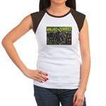 Ninjas vs. Zombies Women's Cap Sleeve T-Shirt