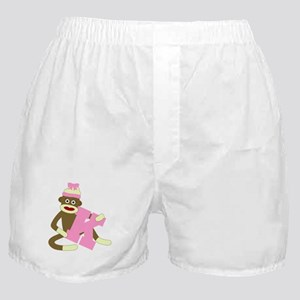 Sock Monkey Monogram Girl K Boxer Shorts