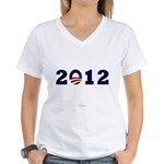 2012 Obama Women's V-Neck T-Shirt