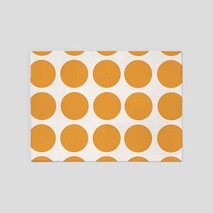 Bold Polka Dots 5 X7 Area Rug