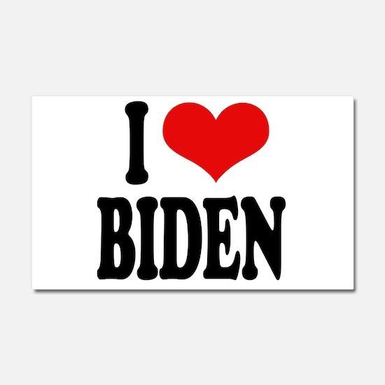 I Love Biden Car Magnet 20 x 12