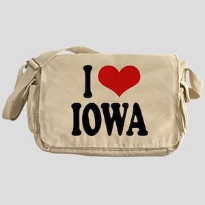 I Love Iowa Messenger Bag