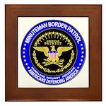 Minuteman Border Patrol Framed Tile