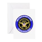 Minuteman Border Patrol  Greeting Cards (Package o