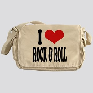 I Love Rock & Roll Messenger Bag