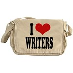 I Love Writers Messenger Bag
