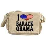 I Love Barack Obama Messenger Bag