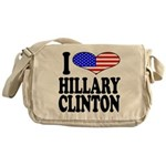 I Love Hillary Clinton Messenger Bag