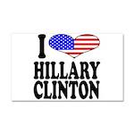 I Love Hillary Clinton Car Magnet 20 x 12