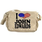 I Love John Edwards Messenger Bag