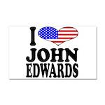I Love John Edwards Car Magnet 20 x 12