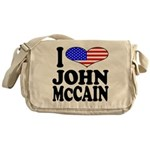 I Love John McCain Messenger Bag