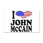 I Love John McCain Car Magnet 20 x 12