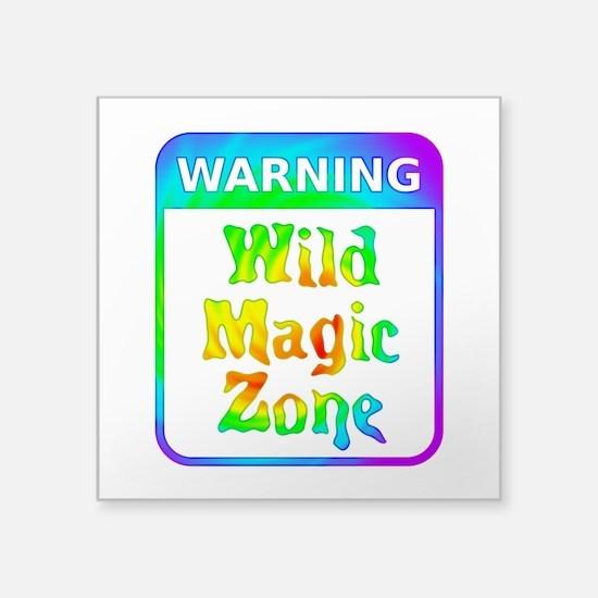 Warning - Wild Magic Zone Sticker