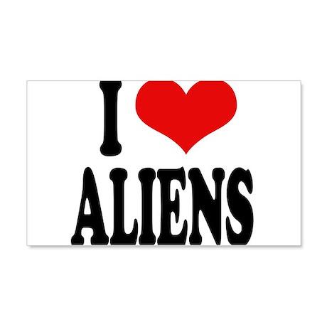 I Love Aliens (word) 22x14 Wall Peel