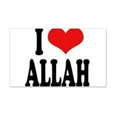 I Love Allah 22x14 Wall Peel