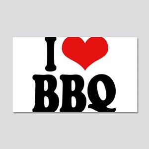 I Love BBQ 22x14 Wall Peel