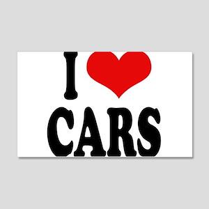 I Love Cars 22x14 Wall Peel