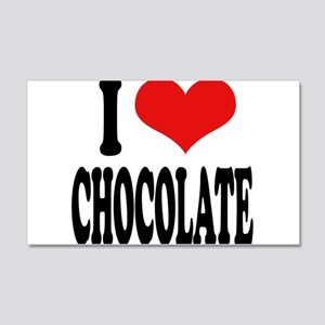 I Love Chocolate 22x14 Wall Peel