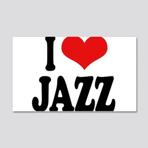 I Love Jazz 22x14 Wall Peel