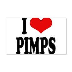 I Love Pimps 22x14 Wall Peel