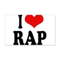 I Love Rap 22x14 Wall Peel