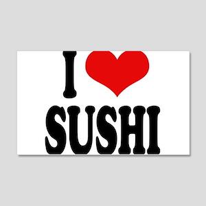 I Love Sushi 22x14 Wall Peel