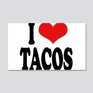 I Love Tacos 22x14 Wall Peel