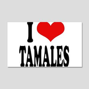 I Love Tamales 20x12 Wall Decal