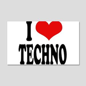 I Love Techno 22x14 Wall Peel