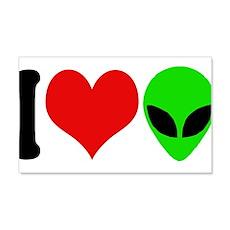 I Love Aliens (design) 22x14 Wall Peel