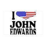 I Love John Edwards 38.5 x 24.5 Wall Peel