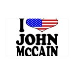 I Love John McCain 38.5 x 24.5 Wall Peel