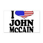 I Love John McCain 22x14 Wall Peel