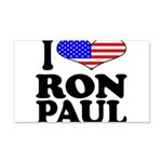 I Love Ron Paul 22x14 Wall Peel