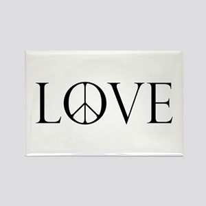 Love Peace Sign Rectangle Magnet