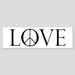Love Peace Sign Sticker (Bumper)