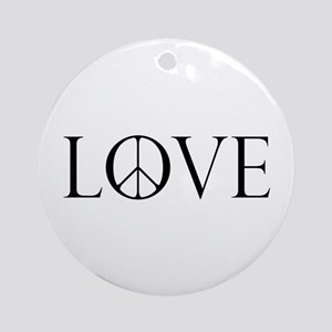 Love Peace Sign Ornament (Round)