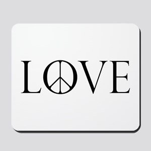 Love Peace Sign Mousepad