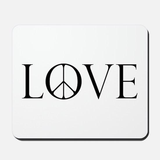Love Peace Sign Mousepad