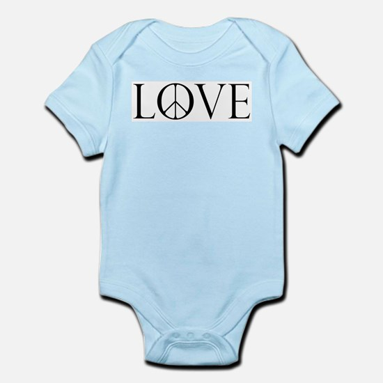 Love Peace Sign Infant Bodysuit