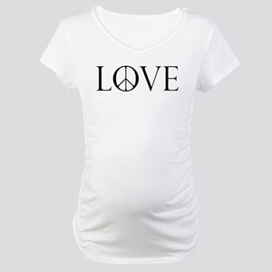 Love Peace Sign Maternity T-Shirt